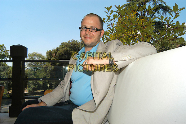 "DAMON LINDELOF.The creator & producer of ""Lost"" at Casa Del Cinema, Rome, Italy..June 13th, 2006.Ref: CAV.half length glasses sitting.www.capitalpictures.com.sales@capitalpictures.com.© Capital Pictures."