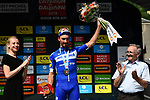 Julian Alaphilippe (FRA) Deceuninck-Quick Step wins Stage 6 of the Criterium du Dauphine 2019, running 229km from Saint-Vulbas - Plaine de l'Ain to Saint-Michel-de-Maurienne, France. 14th June 2019.<br /> Picture: ASO/Alex Broadway | Cyclefile<br /> All photos usage must carry mandatory copyright credit (© Cyclefile | ASO/Alex Broadway)