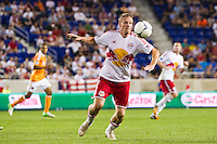 Jan Gunnar Solli (8) of the New York Red Bulls. The New York Red Bulls defeated the Houston Dynamo 2-0 during a Major League Soccer (MLS) match at Red Bull Arena in Harrison, NJ, on August 10, 2012.