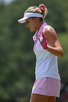 Lexi Thompson (USA) after sinking her par putt on 4 during round 3 of the 2019 US Women's Open, Charleston Country Club, Charleston, South Carolina,  USA. 6/1/2019.<br /> Picture: Golffile | Ken Murray<br /> <br /> All photo usage must carry mandatory copyright credit (© Golffile | Ken Murray)