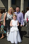 Amy Segrave with her Mum and Dad Keith and Ann Marie www.newsfile.ie
