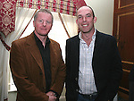 """Denis McKeon and Karl Allen at """"Who Wants to be a Thousandaire"""" in aid of Le Cheile School at the Boyne Valley Hotel...Photo NEWSFILE/Jenny Matthews.(Photo credit should read Jenny Matthews/NEWSFILE)....This Picture has been sent you under the condtions enclosed by:.Newsfile Ltd..The Studio,.Millmount Abbey,.Drogheda,.Co Meath..Ireland..Tel: +353(0)41-9871240.Fax: +353(0)41-9871260.GSM: +353(0)86-2500958.email: pictures@newsfile.ie.www.newsfile.ie.FTP: 193.120.102.198."""