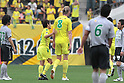 (L-R) Masaki Fukai, Tor Hogne Aaroy (JEF),JUNE 12th, 2011 - Football :2011 J.League Division 2 match between JEF United Ichihara Chiba 3-1 FC Gifu at Fukuda Denshi Arena in Chiba, Japan. (Photo by Hiroyuki Sato/AFLO)