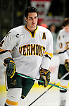 18 October 2009: University of Vermont Catamount defenseman Patrick Cullity, a Senior from Tewsbury, MA, warms up prior to a game against the Boston College Eagles at Gutterson Fieldhouse in Burlington, Vermont. The Catamounts defeated the Eagles 4-1 to open Vermont's America East hockey season. Mandatory Credit: Ed Wolfstein Photo