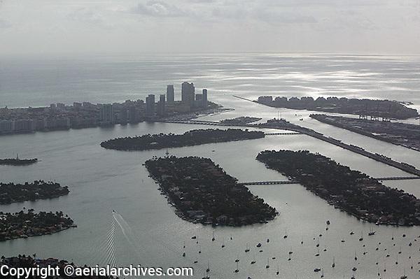 aerial photograph Biscayne Bay Miami, Florida