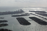 aerial photograph Biscayne Bay Miami, Florida