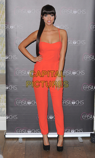 LONDON, ENGLAND - NOVEMBER 25: Lucy Mecklenburgh is announced as Brand Ambassador of The Celebrity Collection...a new range of casual wear hairpeices from a fringe to a fishtail at Charlotte Street Hotel on November 25,  2013 in London, England.<br /> CAP/BEL<br /> &copy;Tom Belcher/Capital Pictures