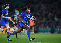 28th December 2019; Twickenham, London, England; Big Game 12 Womens Rugby, Harlequins versus Leinster; Linda Djougang of Leinster on her way to scoring a try - Editorial Use