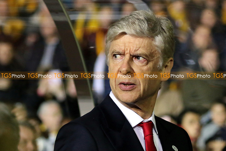 Arsenal Manager, Arsene Wenger during Sutton United  vs Arsenal, Emirates FA Cup Football at the Borough Sports Ground on 20th February 2017