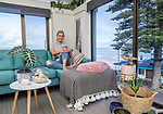 SA Home & Life  mag,  My Place with Adelaide Thunderbird/ netballer Chelsea Pitman. at her home in  Henley Beach.  Photo : Nick Clayton.