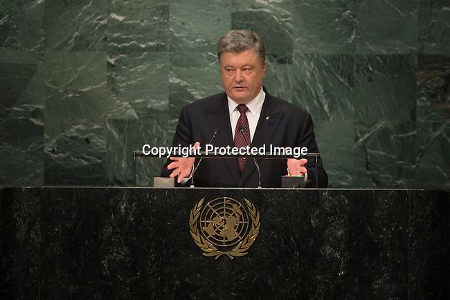 Address by H.E. Mr. Petro Poroshenko<br /> President, Ukraine<br /> <br /> General Assembly Seventy-first session 10th plenary meeting<br /> General Debate
