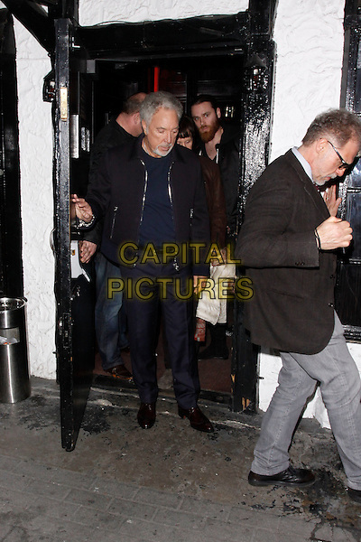 LONDON, ENGLAND - MARCH 18 :  Sir Tom Jones leaves The Voice UK - secret open mic night at The Scotch on March 18, 2015 in London, England.<br /> CAP/AH<br /> &copy;Adam Houghton/Capital Pictures
