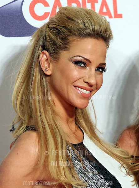 Sarah Harding from Girls Aloud arriving for the Capital Radio Jingle Bell Ball, O2 Arena, London. 09/12/2012 Picture by: Alexandra Glen / Featureflash