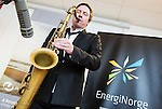 BRUSSELS - BELGIUM - 28 November 2016 -- Inauguration of the Nordic Energy Office. -- Saxophonist Håkon (Hakon) Kornstad preforming after the speeches. -- PHOTO: Juha ROININEN / EUP-IMAGES