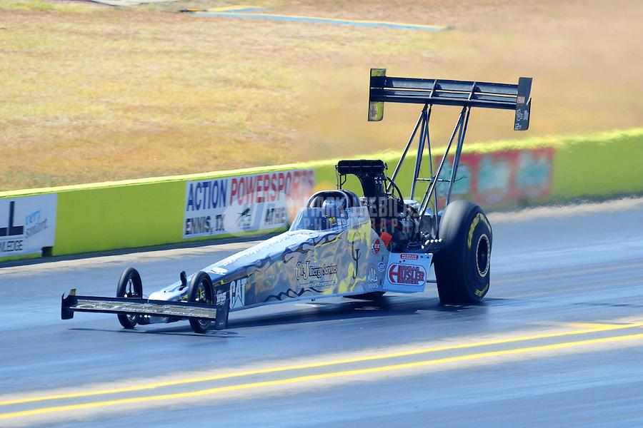 Sept. 24, 2011; Ennis, TX, USA: NHRA top fuel dragster driver Bob Vandergriff Jr during qualifying for the Fall Nationals at the Texas Motorplex. Mandatory Credit: Mark J. Rebilas-