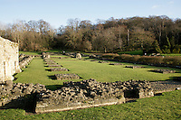 Lesnes Abbey ruins in Abbeywood, southeast London, UK