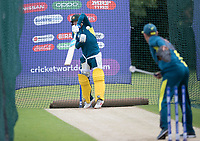 Steve Smith (Australia) wears a short delivery in the nets during at Training Session at Edgbaston Stadium on 10th July 2019