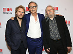 """Florian Zeller, Jonathan Kent and Christopher Hampton during the Broadway Opening Night After Party for the MTC  production of  """"The Height Of The Storm"""" at the Copacabana on September 24, 2019 in New York City."""