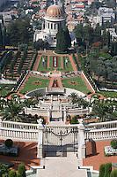 Asie/Israël/Galilée/Haïfa: Temple et Jardins Bahaïs sur le Mont Carmel