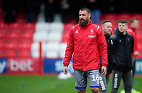 Lincoln City's Michael Bostwick during the pre-match warm-up<br /> <br /> Photographer Andrew Vaughan/CameraSport<br /> <br /> The EFL Sky Bet League One - Accrington Stanley v Lincoln City - Saturday 15th February 2020 - Crown Ground - Accrington<br /> <br /> World Copyright © 2020 CameraSport. All rights reserved. 43 Linden Ave. Countesthorpe. Leicester. England. LE8 5PG - Tel: +44 (0) 116 277 4147 - admin@camerasport.com - www.camerasport.com