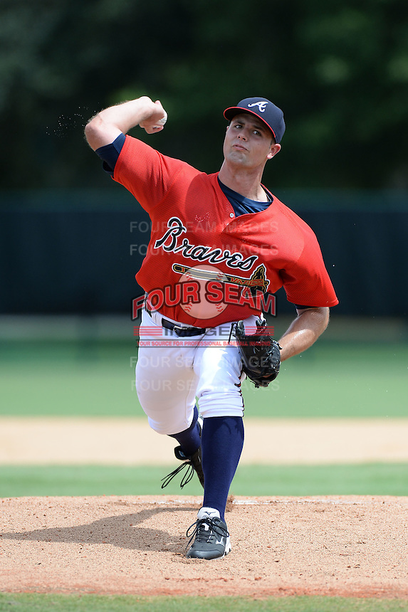 Atlanta Braves pitcher Caleb Dirks (38) during an Instructional League game against the Houston Astros on September 22, 2014 at the ESPN Wide World of Sports Complex in Kissimmee, Florida.  (Mike Janes/Four Seam Images)