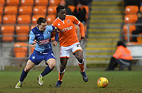 Blackpool's Marc Bola battles for the ball<br /> <br /> Photographer Dave Howarth/CameraSport<br /> <br /> The EFL Sky Bet League One - Blackpool v Wycombe Wanderers - Tuesday 29th January 2019 - Bloomfield Road - Blackpool<br /> <br /> World Copyright © 2019 CameraSport. All rights reserved. 43 Linden Ave. Countesthorpe. Leicester. England. LE8 5PG - Tel: +44 (0) 116 277 4147 - admin@camerasport.com - www.camerasport.com