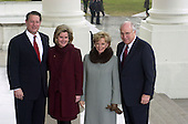 Washington, DC - January 20, 2001 -- Vice P:resident Al Gore and his wife,Tipper, welcome Vice President-elect Dick Cheney and his wife Lynne at the White House for a reception before the new  swearing-in ceremony at the United States Capitol..Credit: Ron Sachs / CNP