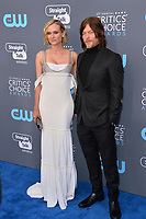 Diane Kruger &amp; Norman Reedus at the 23rd Annual Critics' Choice Awards at Barker Hangar, Santa Monica, USA 11 Jan. 2018<br /> Picture: Paul Smith/Featureflash/SilverHub 0208 004 5359 sales@silverhubmedia.com