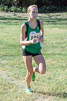 Amy Huck makes her way to the finish en route to a 13th place medal in 20:08 in the 4A Varsity 5k at the 2013 Hancock Cross Country Invitational.