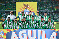 MEDELLIN - COLOMBIA, 05-11-2018: Jugadores del Nacional posan para una foto previo al encuentro entre Atlético Nacional y La Equidad por la fecha 18 de la Liga Águila II 2018 jugado en el estadio Atanasio Girardot de la ciudad de Medellín. / Players of Nacional pose to a photo prior the match between Atletico Nacional and La Equidad for the date 18 of the Aguila League II 2018 played at Atanasio Girardot stadium in Medellin city. Photo: VizzorImage/León Monsalve/Cont