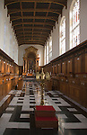 Trinity College chapel interior, Cambridge University, England