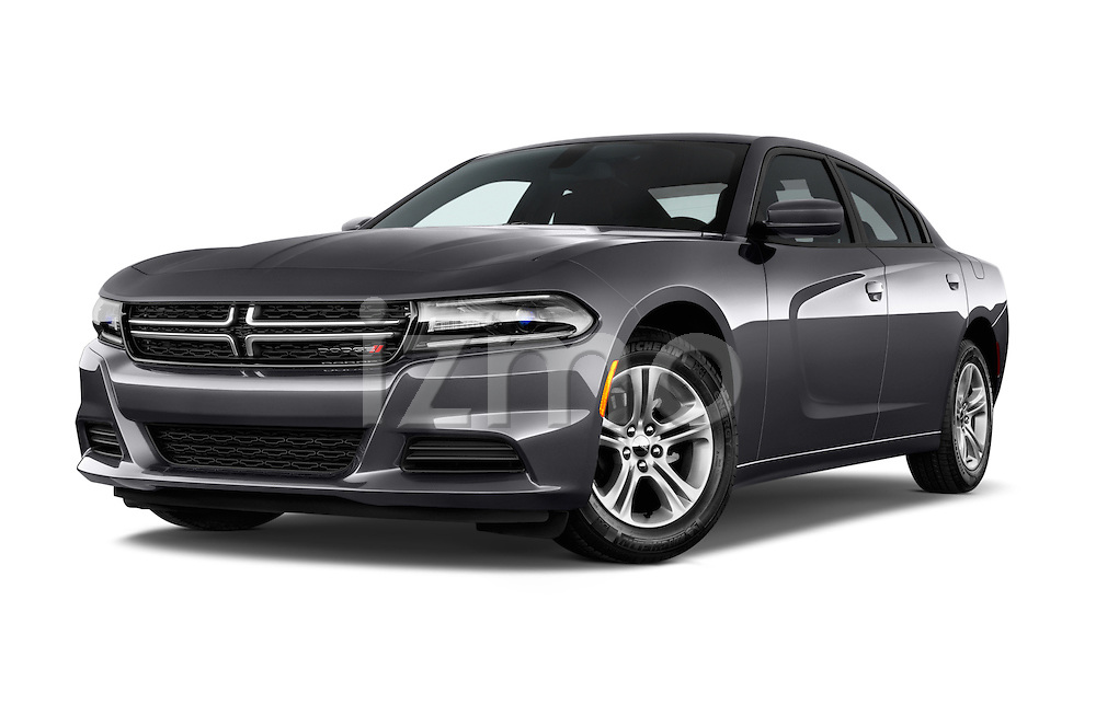 Stock pictures of low aggressive front three quarter view of a 2015 Dodge Charger SE FWD 4 Door Sedan Low Aggressive