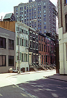 New York City: Gay St. from Christopher St., Greenwich Village. Photo '78.