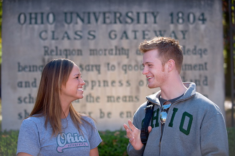 Campus shots:...Amy Swearingen and Ryan Dease