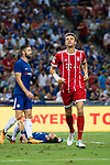 Bayern Munich Forward Thomas Muller (R) celebrating his score during the International Champions Cup match between Chelsea FC and FC Bayern Munich at National Stadium on July 25, 2017 in Singapore. Photo by Marcio Rodrigo Machado / Power Sport Images