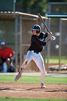Aidan Kane during the WWBA World Championship at the Roger Dean Complex on October 20, 2018 in Jupiter, Florida.  Aidan Kane is an outfielder from Madison, New Jersey who attends Delbarton High School.  (Mike Janes/Four Seam Images)