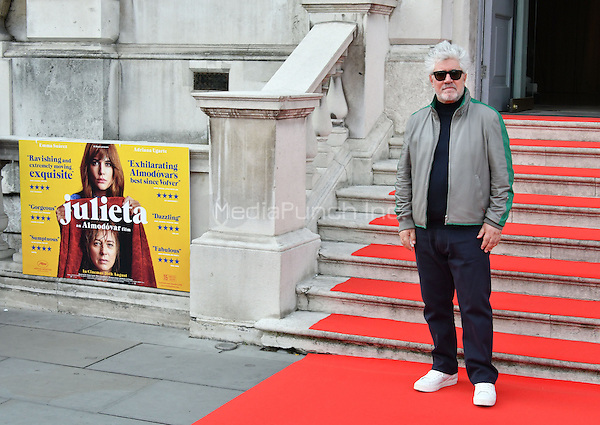 LONDON, ENGLAND - AUGUST 10: Pedro Almodovar attending the 'Julieta' screening at Somerset House in London on August 10, 2016 in London, England.<br /> CAP/MAR/MediaPunch<br /> ***USA &amp; SOUTH AMERICA ONLY***
