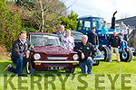 Tom Leslie Thomas Wharton, Sheila and James Looney, Colin Ryan and Tony Wharton Val Keenan launching the Killarney Valley vintage tractor car run