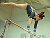 Gillian Murphy of Massapequa performs on the uneven bars during the Nassau County varsity gymnastics team championship at Berner Middle School in Massapequa on Thursday, Feb. 15, 2018.