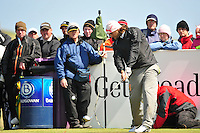 Johan Edfors tees off on the 9th hole during the Final Round of the 3 Irish Open on 17th May 2009 (Photo by Eoin Clarke/GOLFFILE)