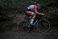 Mathieu van der Poel (NED/Beobank-Corendon) up the steep Koppenberg<br /> <br /> Elite Men's race<br /> Koppenbergcross / Belgium 2017