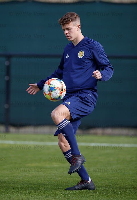 02.09.2019 Scotland u-21 training, Oriam, Edinburgh.<br /> Lewis Smith of Hamilton Academicals during training ahead of the upcoming UEFA European Under-21 Championship Qualifier against San Marino this Thursday evening in Paisley.