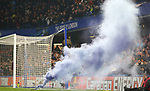 A flare is let off during the Premier League match at Stamford Bridge, London. Picture date: 4th December 2019. Picture credit should read: Paul Terry/Sportimage