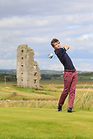 Sean Flanagan (Co. Sligo) on the 13th tee during Round 2 of The South of Ireland in Lahinch Golf Club on Sunday 27th July 2014.<br /> Picture:  Thos Caffrey / www.golffile.ie