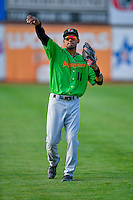 Joel Booker (11) of the Great Falls Voyagers throws before the game against the Ogden Raptors in Pioneer League action at Lindquist Field on August 18, 2016 in Ogden, Utah. Ogden defeated Great Falls 10-6. (Stephen Smith/Four Seam Images)