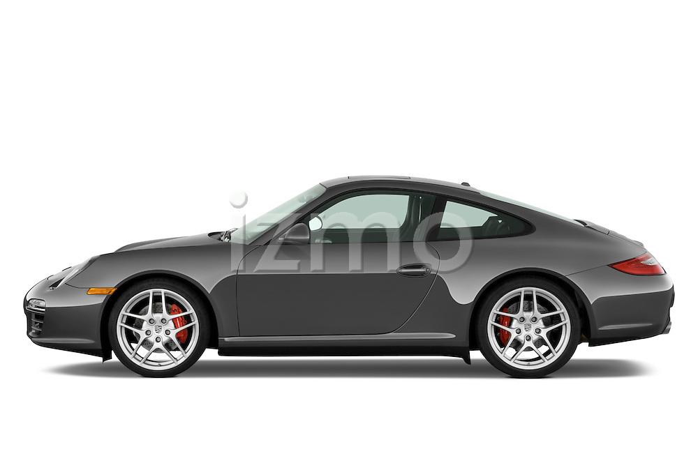 Driver side profile view of a 2009 Porsche Carrera 4S Coupe.