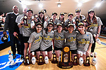 CLAYTON, MO - APRIL 14: Vanderbilt University bowlers pose with the national championship trophy following the Division I Women's Bowling Championship held at Tropicana Lanes on April 14, 2018 in Clayton, Missouri. Vanderbilt University defeated McKendree University 4-3. (Photo by Tim Nwachukwu/NCAA Photos via Getty Images)