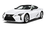 2018 Lexus LC 500 4 Door Sedan angular front stock photos of front three quarter view