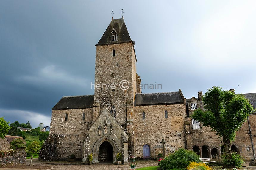 France, Orne (61), Lonlay-l'Abbaye, abbaye de Lonlay // France, Orne, Lonlay l'Abbaye, Abbey Lonlay