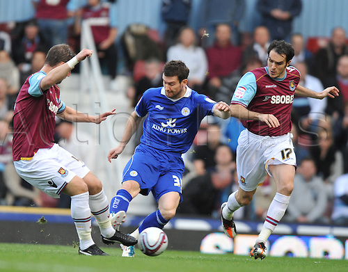 29.10.2011. London England. David Nugent  in action during the Npower Championship Football Association match between West Ham and Leicester City Upton Park London . Mandatory Credit: Actionplus